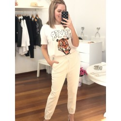 PANTALON BLANCO POLIPIEL